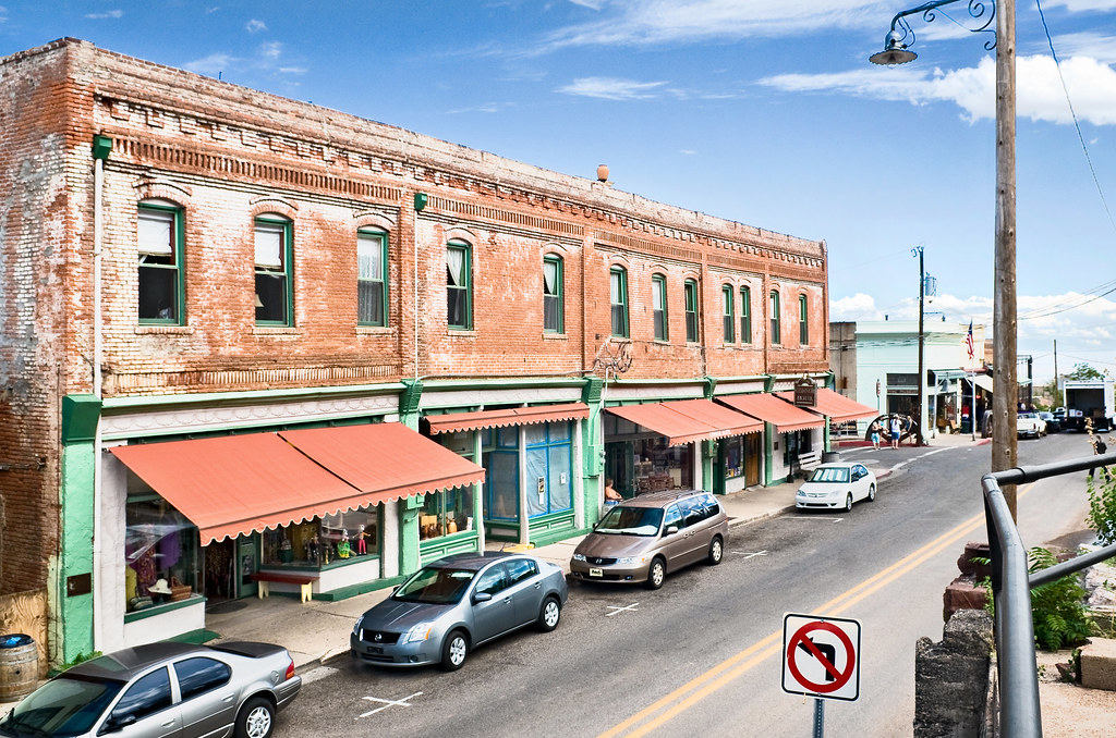 Main Street En Jerome Arizona Foto de archivo editorial