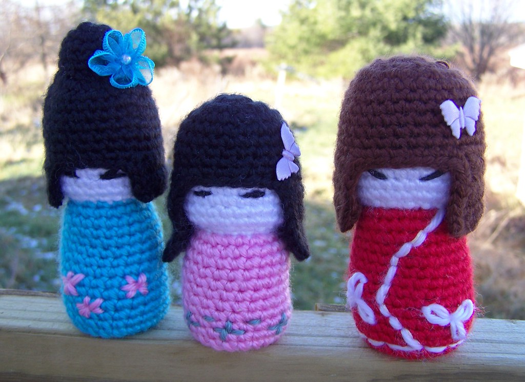 Crochet this Adorable Kokeshi Doll! Free Pattern! - The Spinners ... | 746x1024