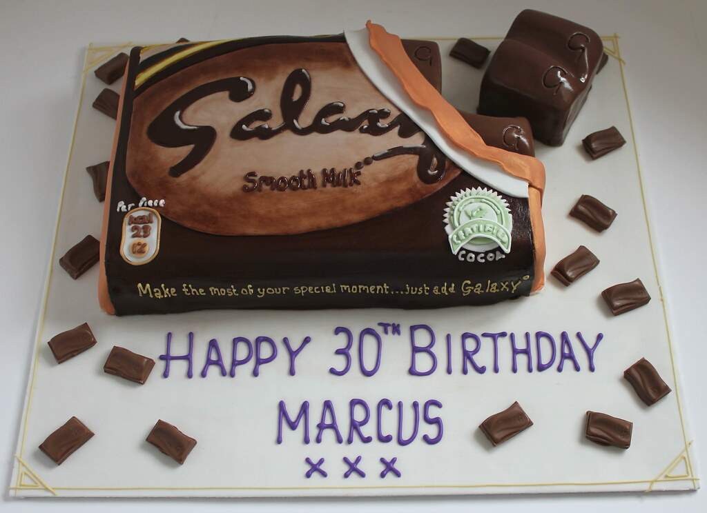 Giant Galaxy Chocolate Bar Birthday Cake Pauls Creative