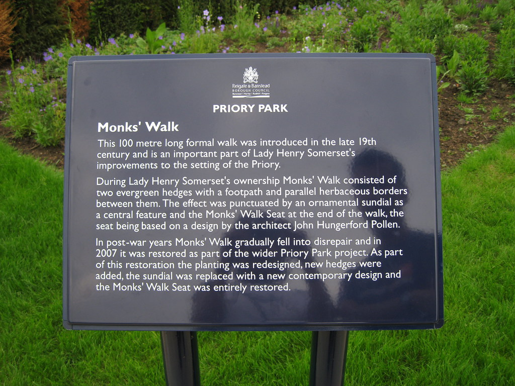 History of Monk's Walk in Priory Park, Reigate