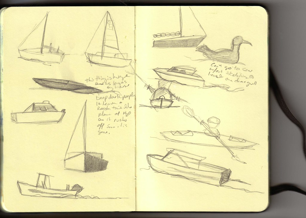 quick boat sketches | I haven't been happy with my handling