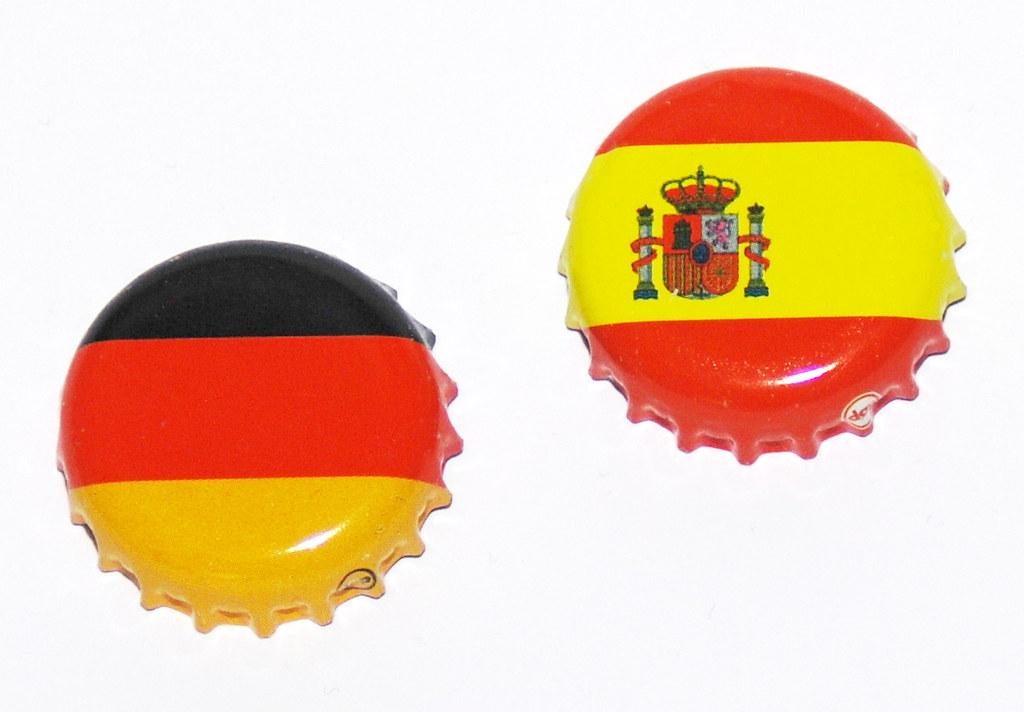 Kronkorken Deutschland vs. Spanien