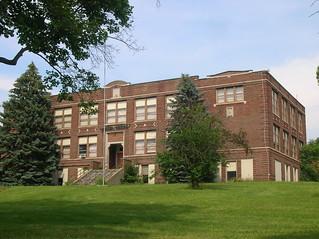 New Paris High School (1915)--New Paris, Ohio   by oldohioschools