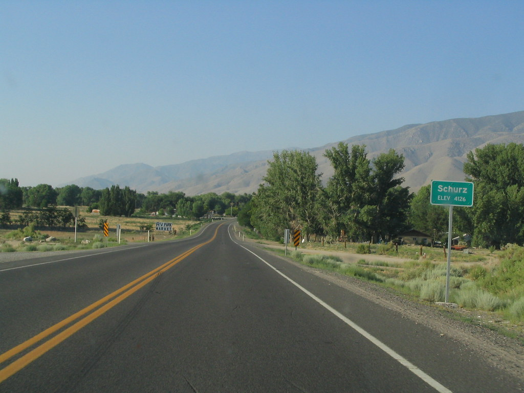 Entering Schurz, Nevada, U.S. 95