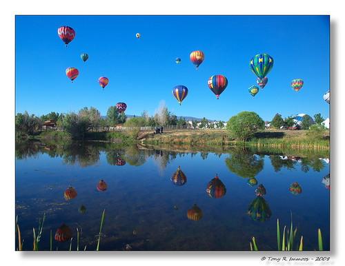 blue sky reflection landscape nevada balloon vivid explore e3 reno daytrip hotairballon greatrenoballoonrace2008