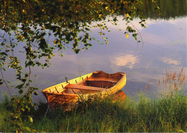 Finnish Row Boat Postcard