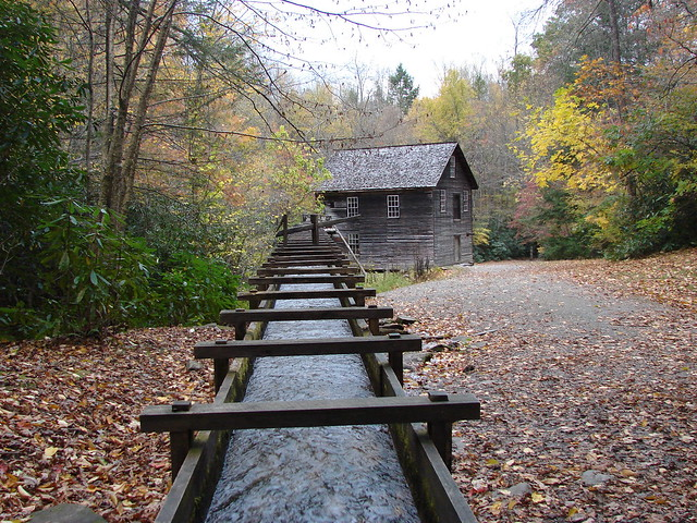 Old mill in Smoky Mountains