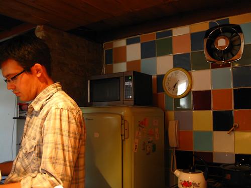 The loft's kitchen