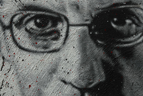 Michel Foucault's first lecture of 1982 is on January 6th. Here we show his painted portrait DDC_7450.jpg by Abode of Chaos licensed under CC BY 2.0