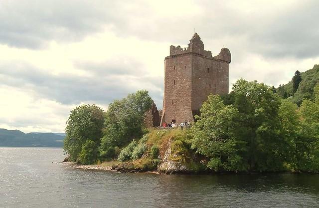 Urquhart Castle from Loch Ness Scotland