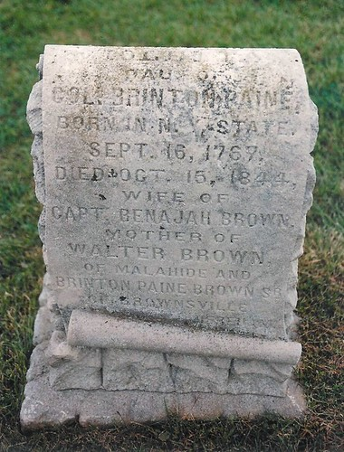 Violetta (Paine) (Brown) (Nichols) Dusten - buried in 1844 at the Burdick Cemetery, Malahide, Elgin, Ontario, Canada | by Elgin OGS