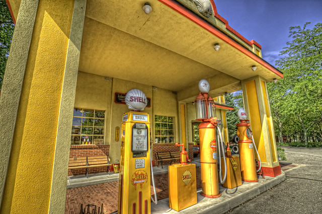 Yellow Gas Station