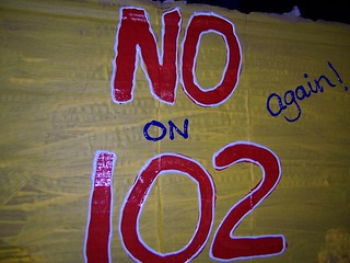 no on 102 sign