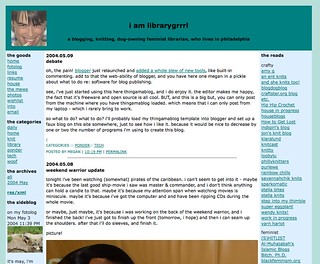 Blog - late 2003 to November 2004 | by librarygrrrl