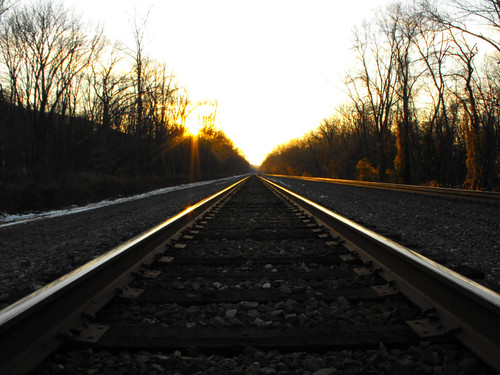 sunset train pennsylvania tracks rails juniata tjaden sphericalharmony