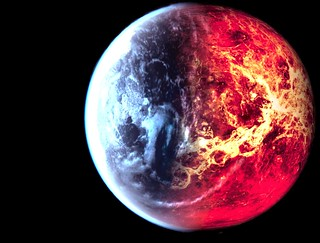 icy fire planet | by ArTsMaNiA