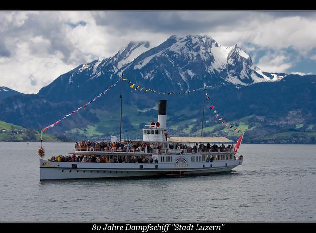 80 Jahre Dampfschiff Stadt Luzern Ds Schiller Aviationphoto