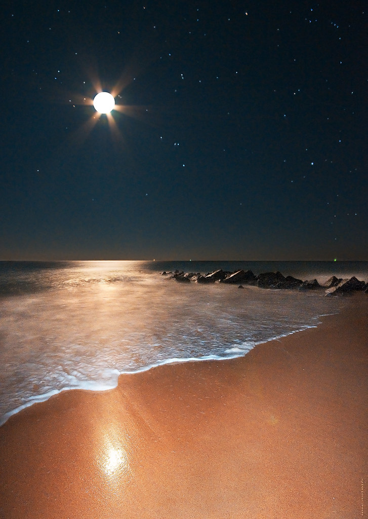 Moonshine, Orion Rising on Vilano Beach With Notes | Flickr