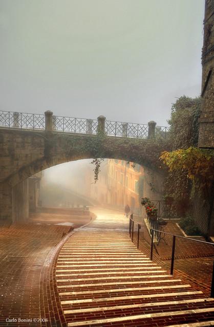 Ancora nebbia, ancora via Appia
