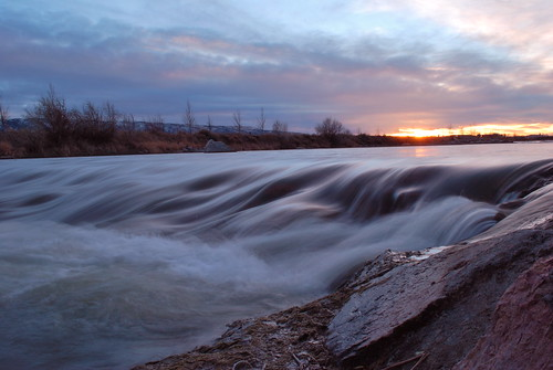 sunset river nikon casper kenny ainsworth d60 northplatteriver nikond60 riversunset casperwy kennyainsworth wyomingphotographers