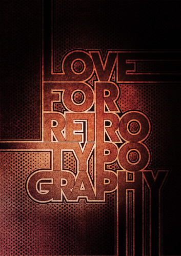Typowall ♠ Love For Retro Typography | by Vector Hugo