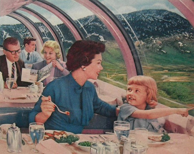 Image result for 1950s train travel
