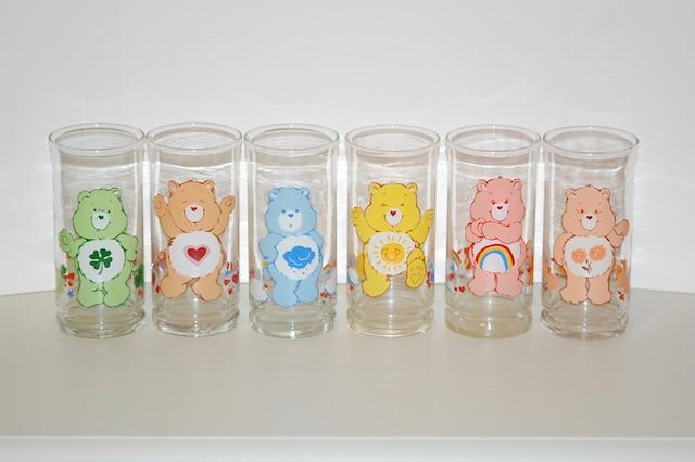 Care Bear Pizza Hut glasses 1983