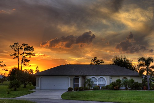 sunset house florida portcharlotte hdr 3xp