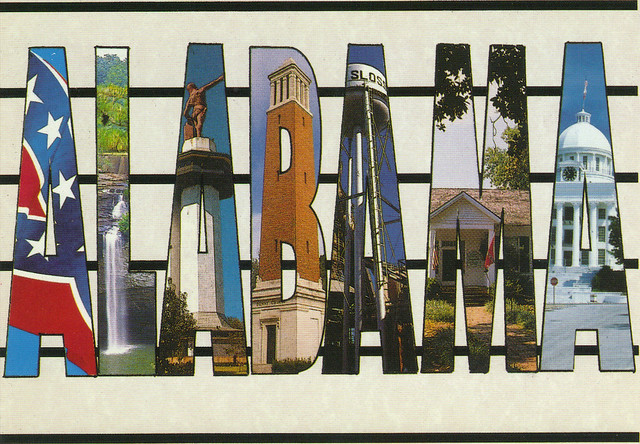 Alabama Large Letter Postcard