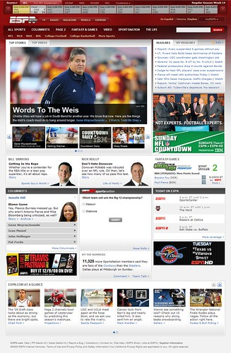 ESPN Beta Front Page | by Steve Clancy