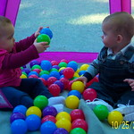 Avery Sharing the balls in the tent