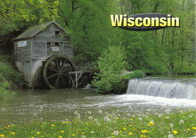 Wisconsin--Hyde's Mill Postcard