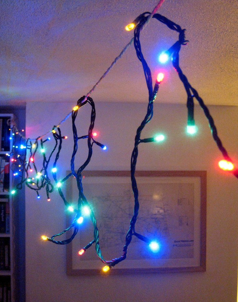 Led Christmas Lights For Room.Led Christmas Lights Strung Across My Living Room New Hal