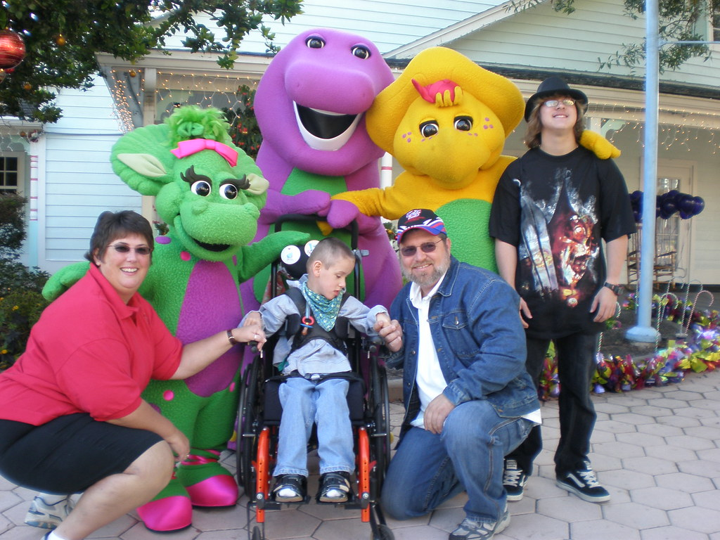 All of us with Barney, Baby Bop & BJ   Samlee415   Flickr