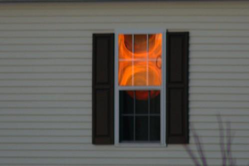 sunset reflection window pa statecollege project365 36562 36662 project366