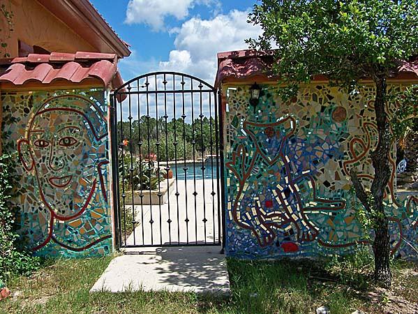 Isaiah Zagar Mural Exterior Gate