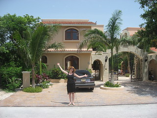 Sarah pretending to live the Mayan Riviera lifestyle | by Mike Stringer