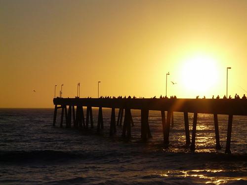 california sunset sky sun fishing glow silhouettes pilings pacifica fiery pierfishing beautifulsunset pacificapier pacificasunset pieratsunset peopleonpier