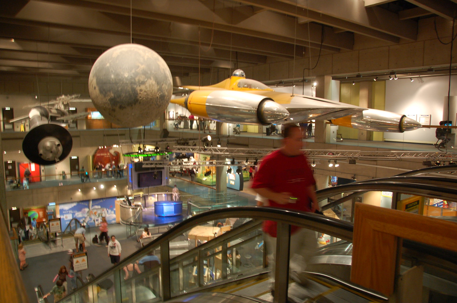Boston Museum of Science: Star Wars Naboo fighter craft, with R2-D2