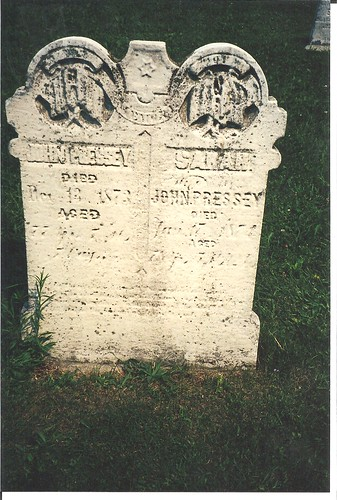 John and Sarah Pressey gravestone at the Trinity Cemetery Port Burwell | by Elgin OGS