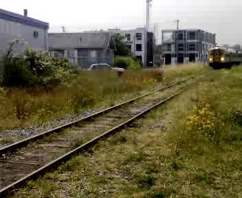 Via Rail Train (The Malahat) pulls into Nanaimo