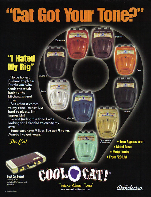 Danelectro Cool Cat Pedal Poster