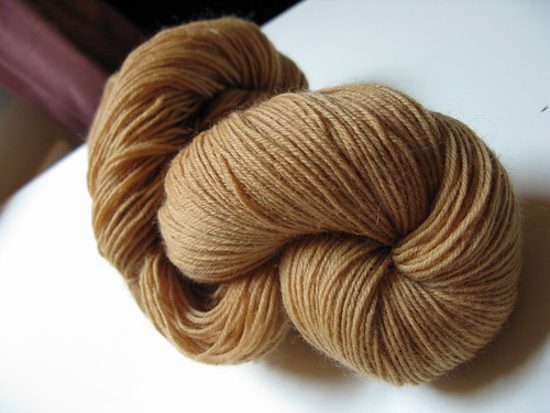 tea-dyed sockyarn | by alicerose