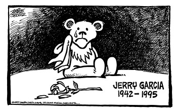 Grateful Dead Dancing Bear crying for Jerry Garcia | Flickr