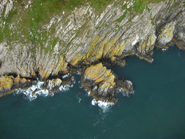 Picture from a Kite Over Cliffs of Howth Ireland and the Irish Sea