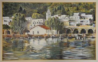 Peintre tunisien: vieux port de Ghar El Melh