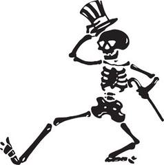 Grateful Dead dancing skeleton