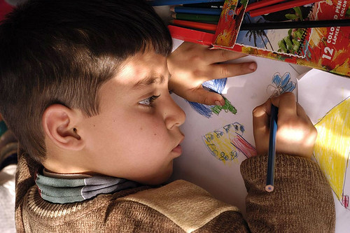Having time to draw in Nazokolya, western Azerbaijan | by unicefiran