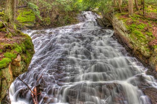 waterfall vermont killington hdr photomatix thunderingfalls beccaweddingweekend