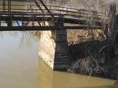 Old Lee Creek Bridge-Stone Pier